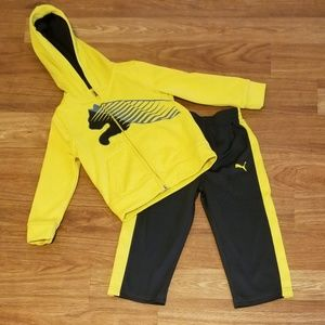 Yellow & Gray Puma Outfit